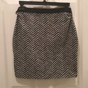 Old Navy black and white skirt.